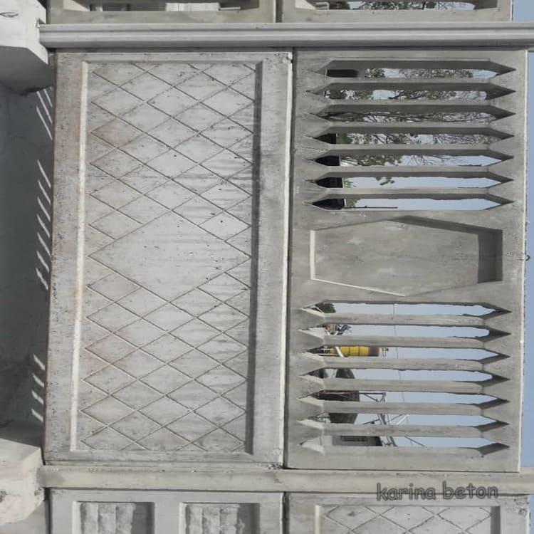 دیوار پیش ساخته نرده بتنی نمونه 2