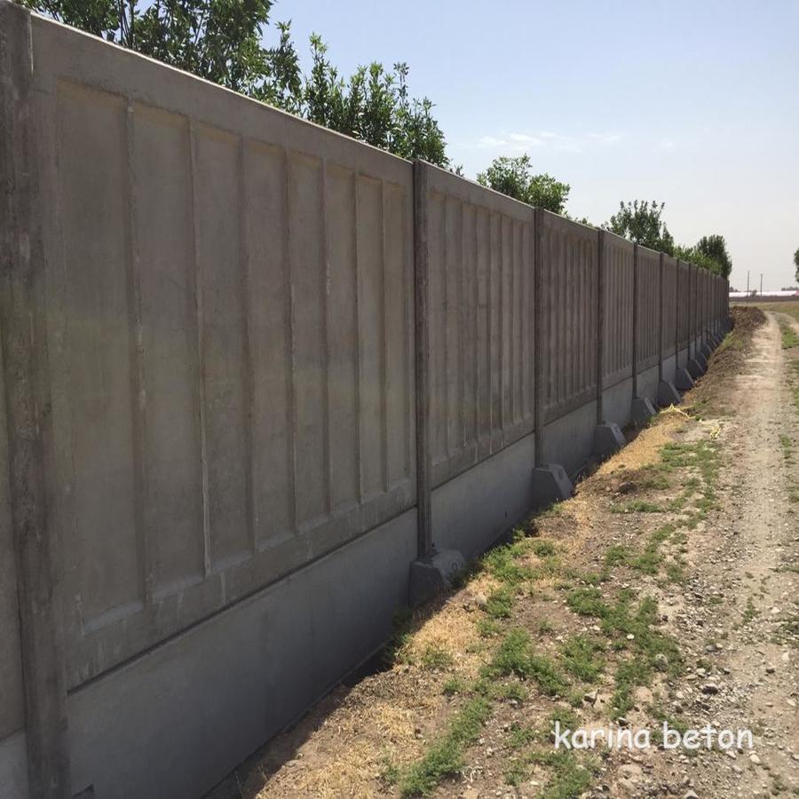 دیوار بتنی پیش ساخته طرح شادولاین(یک رو نما)نمونه3