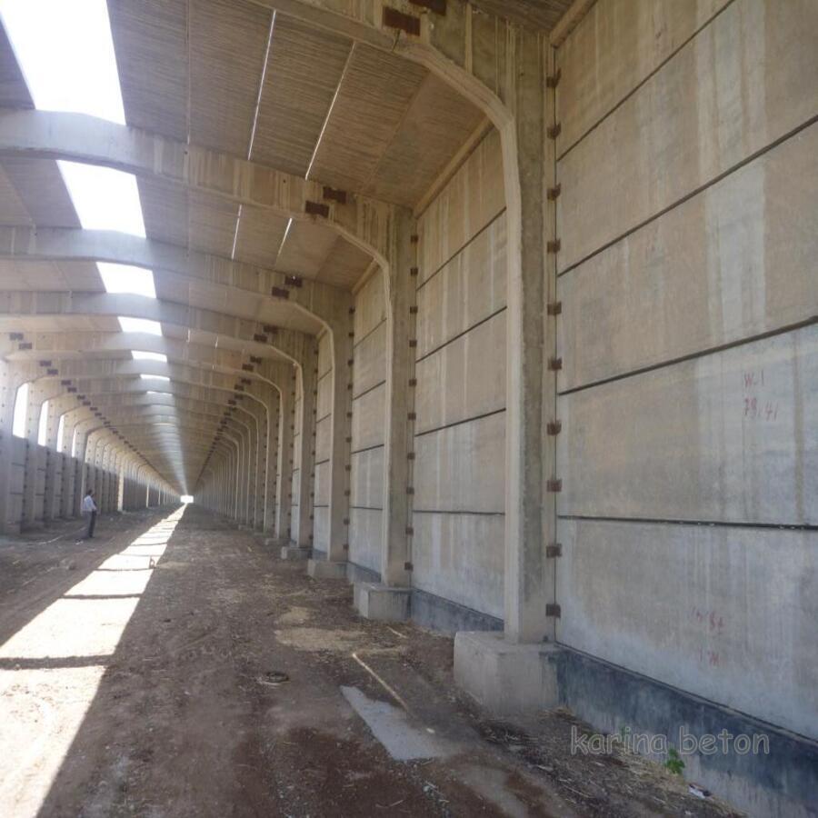 دیوار بتنی پیش ساخته سوله