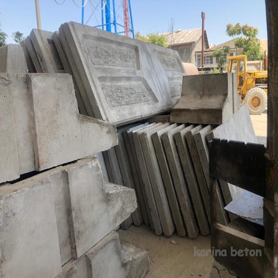 دیوار بتنی پیش ساخته با فونداسیون سنگین نمونه1